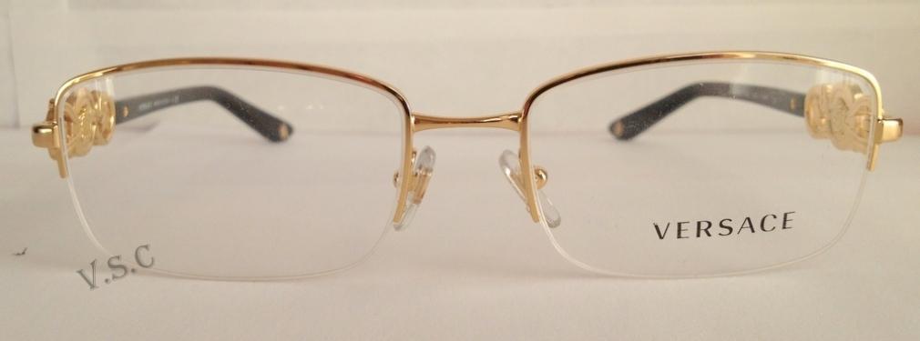 35f677e8140 Versace VE1199 Progressive Prescription Eyeglasses  NEW AUTHENTIC VERSACE  VE1175B 1002 GOLD EYEGLASS FRAME SIZES 51   53mm