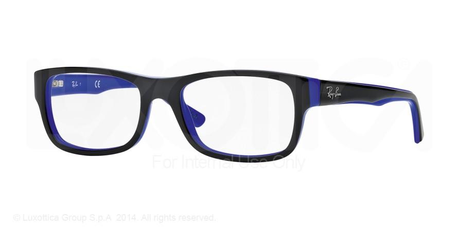 175be9f2964 Ray-ban Rx5268 Eyeglasses - Black On Blue