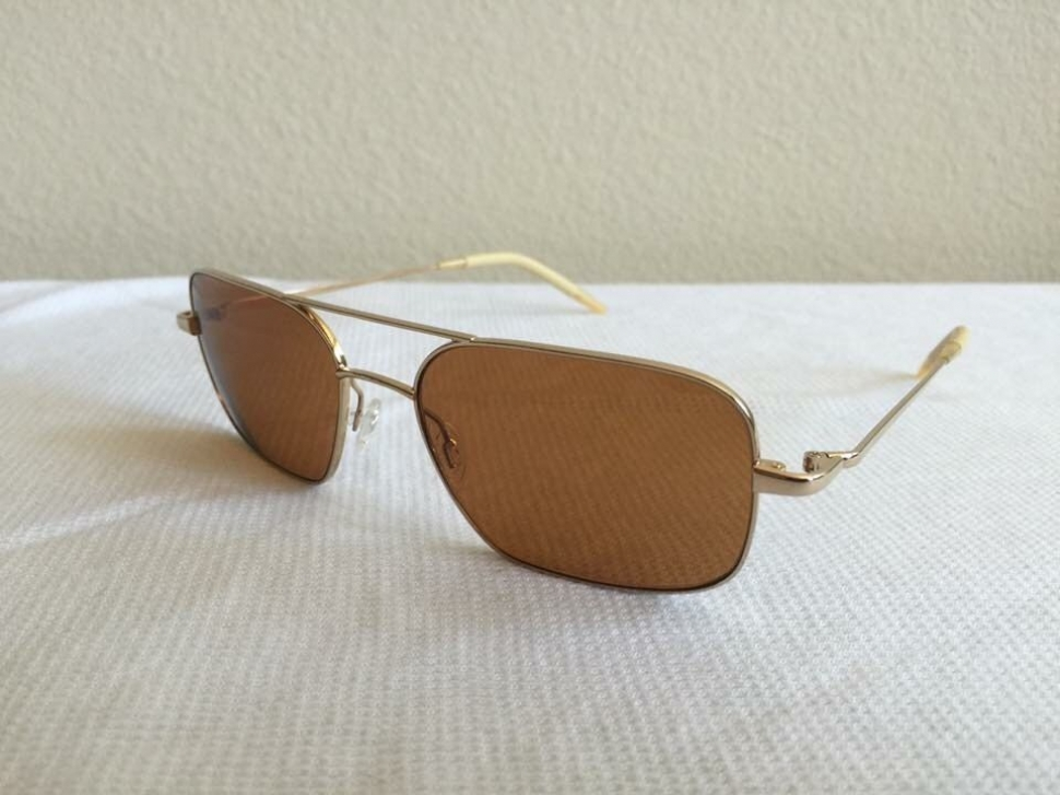3abcaf93e5 OLIVER PEOPLES VICTORY 55 GLD GLD cognac polarized