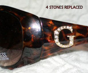 Example of Completed Crystal Replacement Work at EyeglassesDepot.com